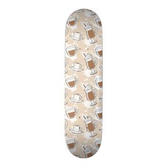 Coffee, sweet pattern custom skate board