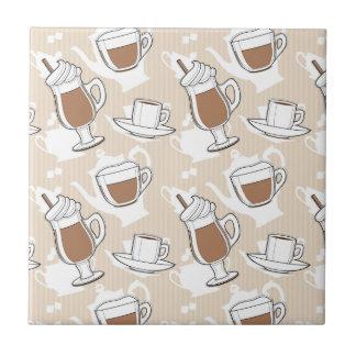 Coffee, sweet pattern ceramic tiles