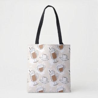 Coffee, sweet pattern tote bag