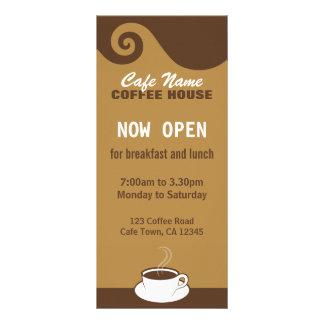Coffee Swirls Cafe Menu Coffee Shop Rack Cards Rack Card Design