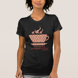 Coffee t-shit with sentence of Jackie Chan. T-Shirt