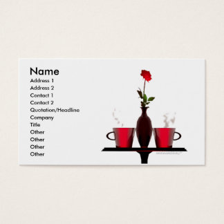 Coffee Table - Business Size Business Card