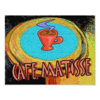 "Coffee Table Matisse cafe 4.25"" X 5.5"" Invitation Card"