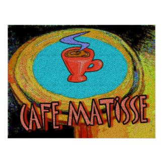 Coffee Table Matisse cafe Poster