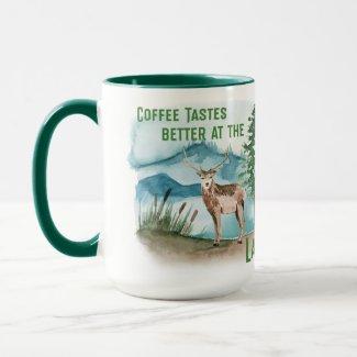 Coffee Tastes Better at the Lake Mug