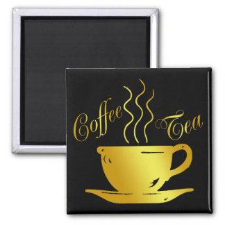 COFFEE & TEA 2 INCH SQUARE MAGNET