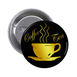 COFFEE & TEA PINBACK BUTTON