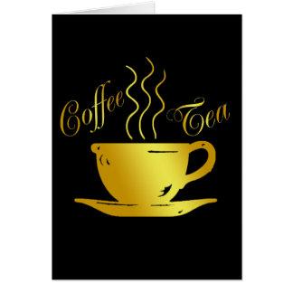 COFFEE & TEA GREETING CARD