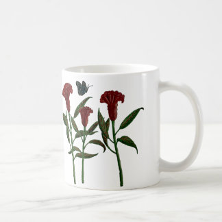Coffee/Tea Mug with Cockscomb Flowers