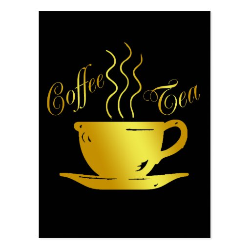 COFFEE & TEA POSTCARD