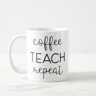 Coffee. Teach. Repeat. Coffee Mug