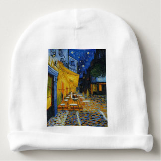 Coffee terrace harms it of Vincent Van Gogh Baby Beanie