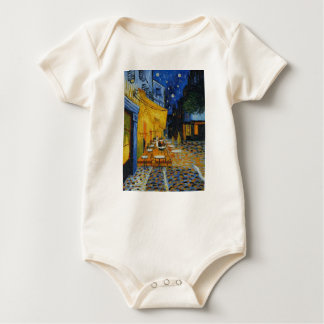 Coffee terrace harms it of Vincent Van Gogh Baby Bodysuit