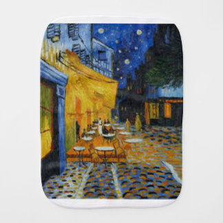 Coffee terrace harms it of Vincent Van Gogh Baby Burp Cloth