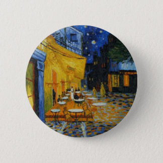 Coffee terrace harms it of Vincent Van Gogh Pinback Button