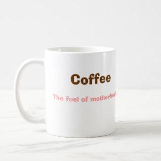 Coffee, The fuel of motherhood. Classic White Coffee Mug