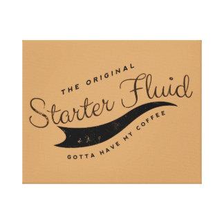 Coffee: The Original Starter Fluid Canvas Print