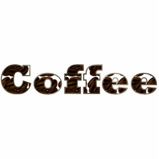 Coffee The Word Acrylic Pin Statuette