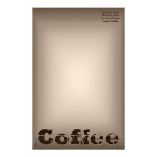 Coffee The Word Customized Stationery