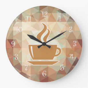 Coffee Theme Kitchen Wall Clocks