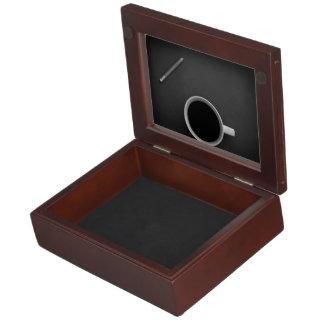 Coffee Themed, A White Mug Full Of Black Coffee An Keepsake Boxes