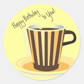 Coffee-Themed Birthday Envelope Seals