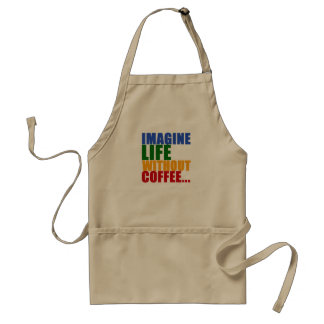 coffee themed color typography adult apron