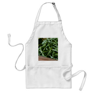 Coffee Themed, Fresh French Green Beans After Harv Adult Apron
