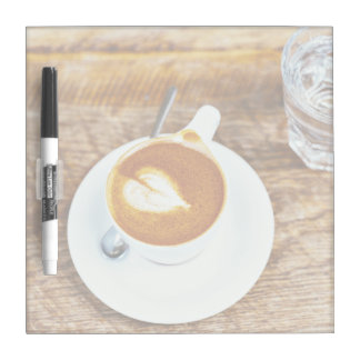 Coffee Themed, Perfecto Cappuccino Heart  Latte Fo Dry-Erase Board