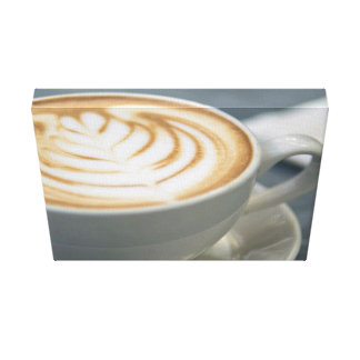 Coffee Themed, The Tempting Grains Of Cappuccino L Canvas Print