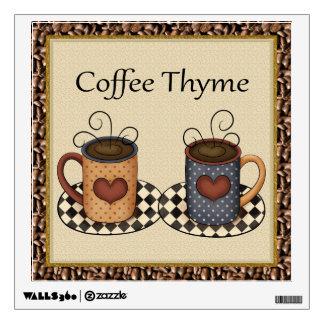 Coffee Thyme Wall Decal
