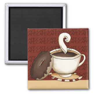 Coffee Time 2 Inch Square Magnet
