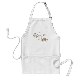 Coffee time adult apron