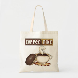Coffee Time Bag Budget Tote Bag