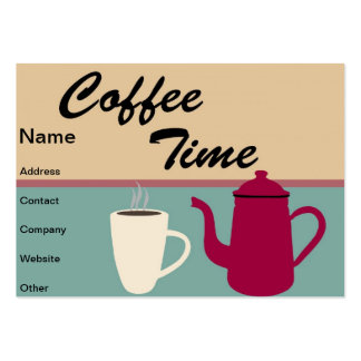 Coffee time business cards