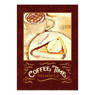 Coffee Time Caramel Macchiato Pumpkin Pie Teatime Card