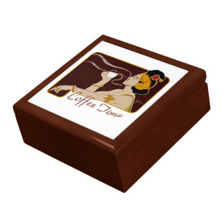 Coffee Time CC0265 Art Nouveau Chocolate Jewelry Box