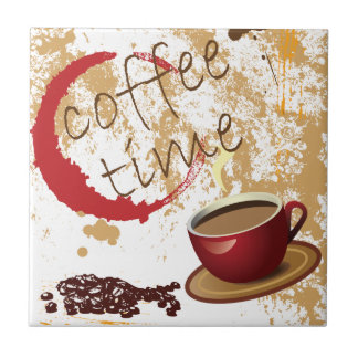 Coffee Time Ceramic Tile