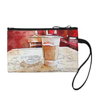 Coffee Time clutch bag