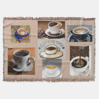 COFFEE TIME COFFEE BREAK THROW BLANKET