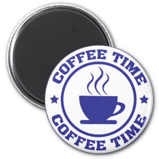 coffee time coffee cup 2 inch round magnet
