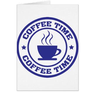 coffee time coffee cup card