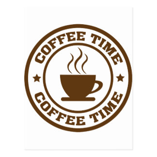 coffee time coffee cup postcard