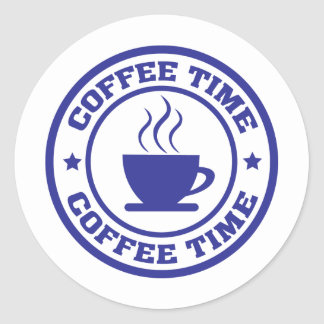 coffee time coffee cup round stickers