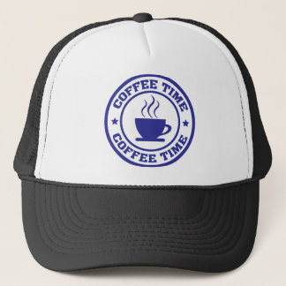 coffee time coffee cup trucker hat