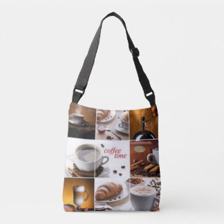 Coffee Time Collage Crossbody Bag