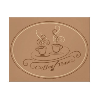 Coffee time design canvas print