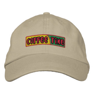 Coffee Time Embroidered Hat