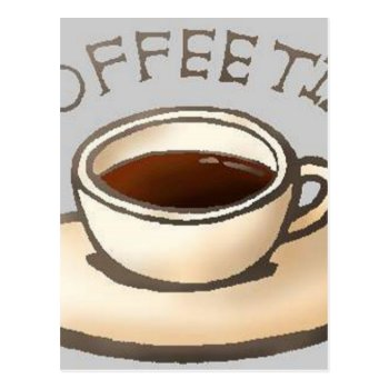 Coffee-time-free-clipart--400.jpg Postcard by CREATIVEBRANDING at Zazzle
