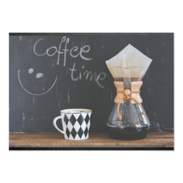 Coffee Themed Coffee Time Get Together Party Card